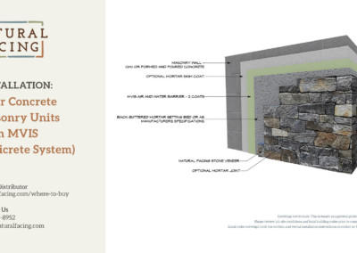 Natural Facing over Concrete Masonry Units with MVIS